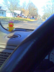 rubber ducky in my car