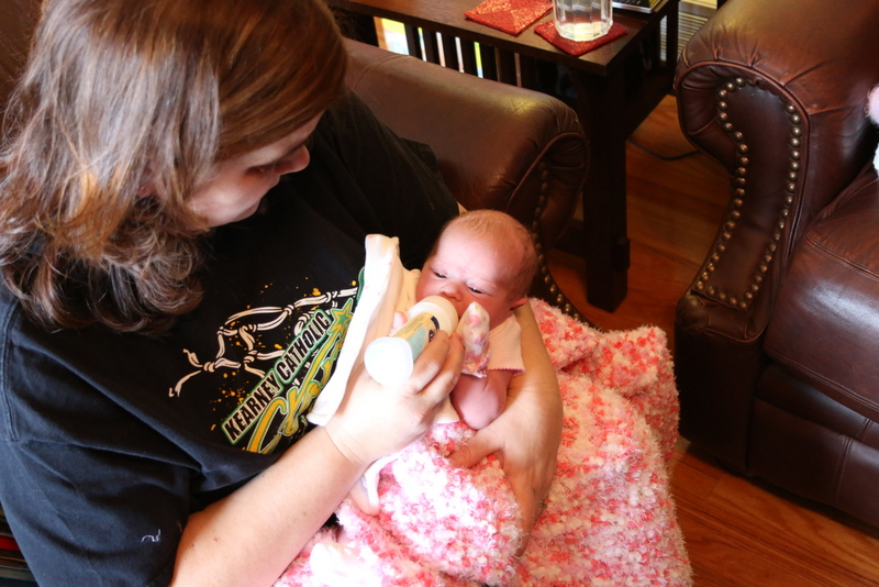 Lainey meeting Auntie Kim
